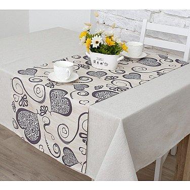 """Дорожка на стол """"Амур""""-5п, серый"""