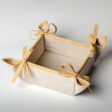 """Декоративная корзинка-салфетка """"Анита"""" - 1, молочный, 27*27 см"""