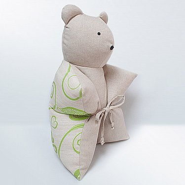 """Декоративная подушка """"Мишка"""", салатовый"""