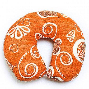 """Подушка под шею """"Ассорти-6"""", темно-оранжевый"""