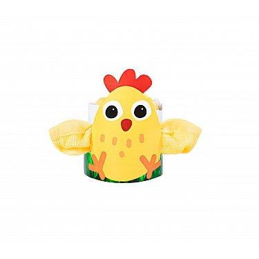 Полотенце махровое Aquarelle Сувенир Цыпленок, желтый, 40*40 см