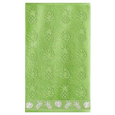 Полотенце махровое Sole Mio Ананас, травяной, 35*55 см