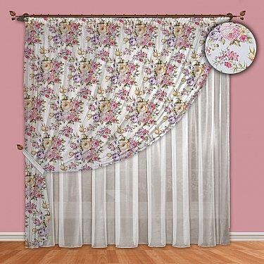 Комплект штор №088 Фиолетовый