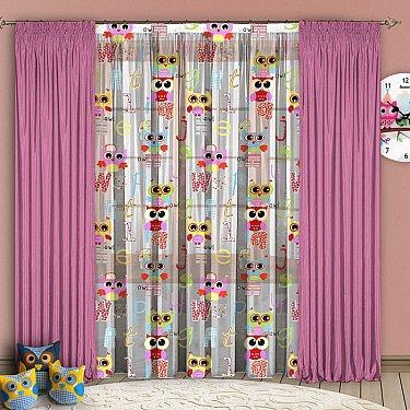 Комплект штор №102 Розовый