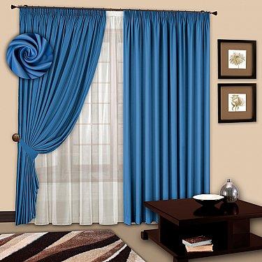 Комплект штор №107 Небесно-голубой