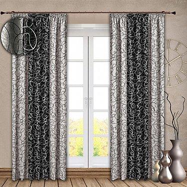 Комплект штор №121 Черный
