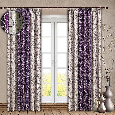 Комплект штор №121 Фиолетовый
