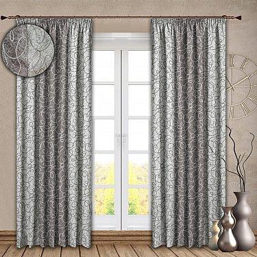 Комплект штор №121, серебро