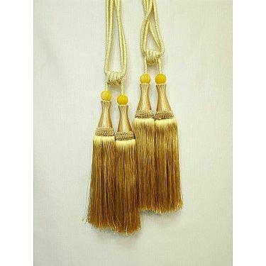 Кисти двойные Ф-5, золотой, 32 см