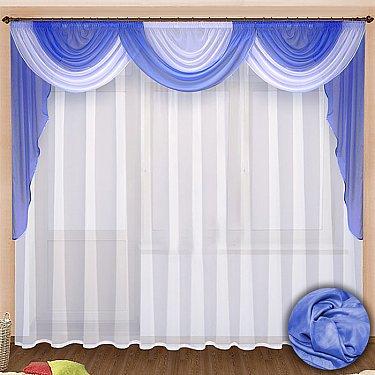 Комплект штор №021 Голубой
