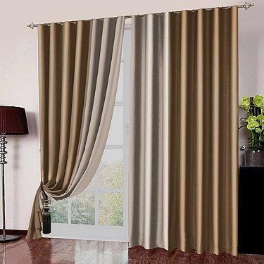 Комплект портьер №026 Золотисто-коричневый