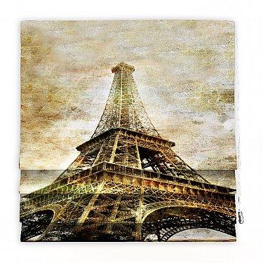 """Римская фотоштора """"Париж"""", золотой, ширина 145 см"""