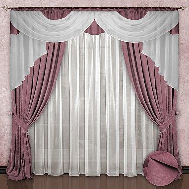 Комплект штор №033 Бледно-розовый