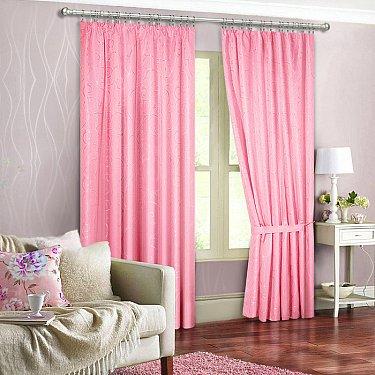 """Портьеры """"Джоди"""", розовый"""