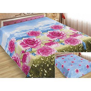 Покрывало Шарм №367, голубой, розовый