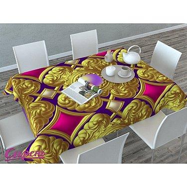 """Скатерть 3D """"Королевский узор"""", золотая"""