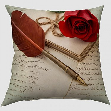 "Декоративная подушка габардин ""Любовное письмо"""