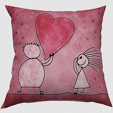 "Декоративная подушка блэкаут ""Мое сердце для тебя"""