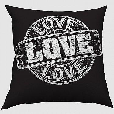 """Декоративная подушка блэкаут """"Любовная печать"""""""