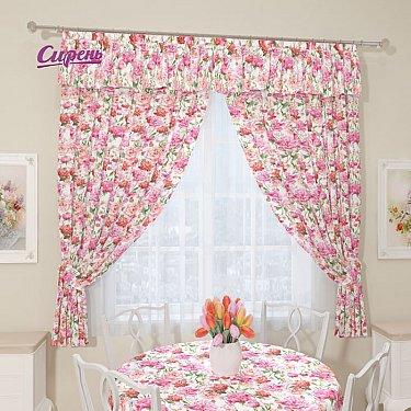 """Комплект штор """"Розовые пионы"""", розовый"""