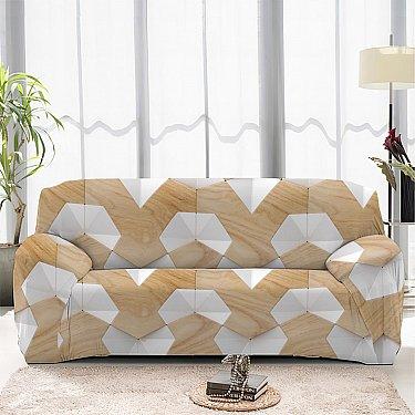 Чехол на диван одноместный ЧХТР069-13324, 90-140 см