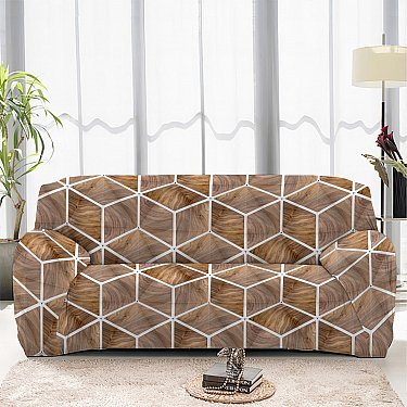 Чехол на диван четырехместный ЧХТР046-13337, 240-290 см