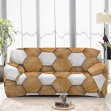 Чехол на диван одноместный ЧХТР069-13338, 90-140 см