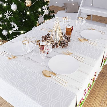"Дорожка на стол ""Подарок для елочки"", 40*140 см"