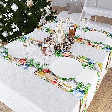 """Дорожка на стол """"Наряжаем елку"""", 40*140 см"""