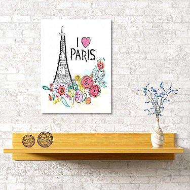 """Картина """"Люблю Париж"""", 40*60 см"""