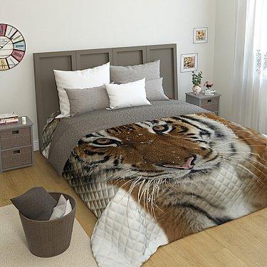 """Стеганое фотопокрывало """"Сибирский тигр"""", 200*220 см"""