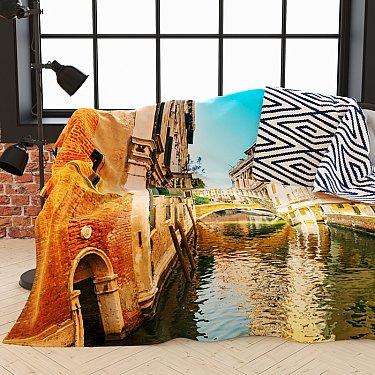 """Фотоплед двухсторонний """"Солнечный день в Венеции"""", 145*220 см"""