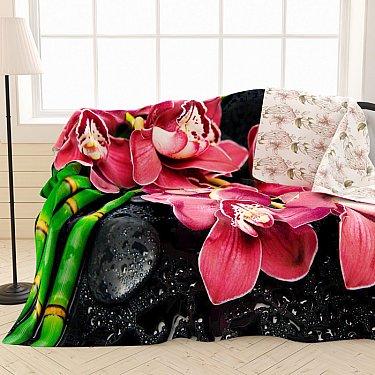 """Фотоплед двухсторонний """"Отдых с орхидеями"""", 145*220 см"""