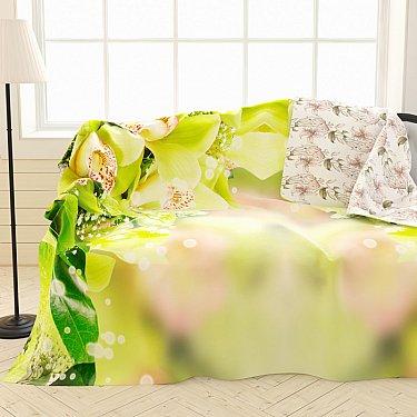 """Фотоплед двухсторонний """"Зеленая орхидея"""", 145*220 см"""