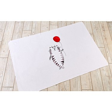 """Фотоплед двухсторонний """"Котик с шариком"""", 90*140 см"""