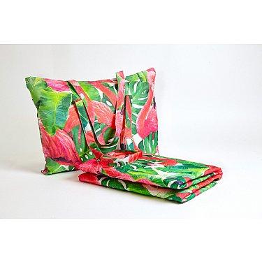 """Пляжное фотопокрывало """"Фламинго"""", 145*200 см"""