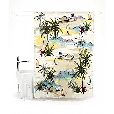 """Штора для ванной """"Заманчивые острова"""", 145*180 см"""