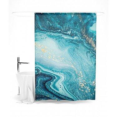 """Штора для ванной """"Голубая бездна"""", 145*180 см"""