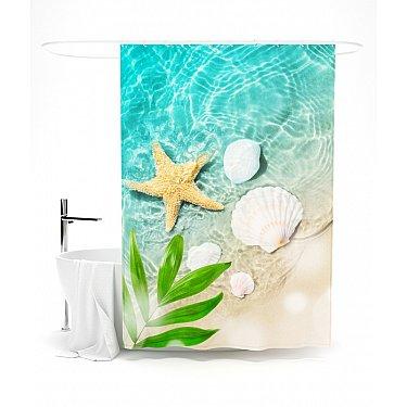 """Штора для ванной """"Лазурная мечта"""", 145*180 см"""