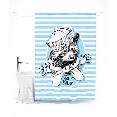"""Штора для ванной """"Моряк Толли"""", 145*180 см"""