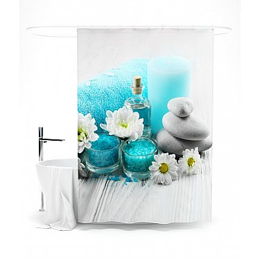 """Штора для ванной """"Лазурный отдых"""", 145*180 см"""