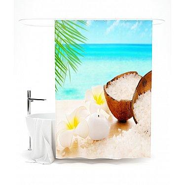 """Штора для ванной """"Роскошное наслаждение"""", 145*180 см"""