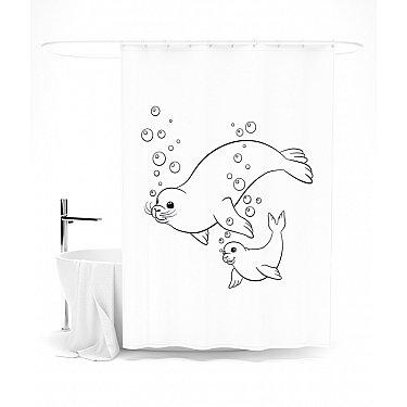 """Штора для ванной """"Поплыли с нами!"""", 145*180 см"""