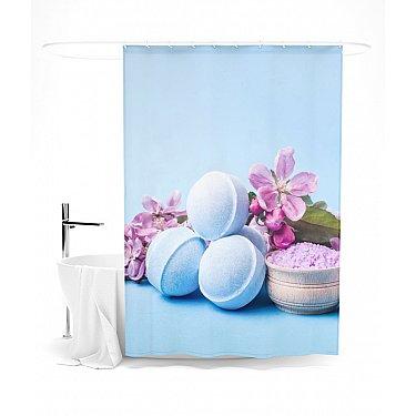 """Штора для ванной """"Спа-шарики"""", 145*180 см"""
