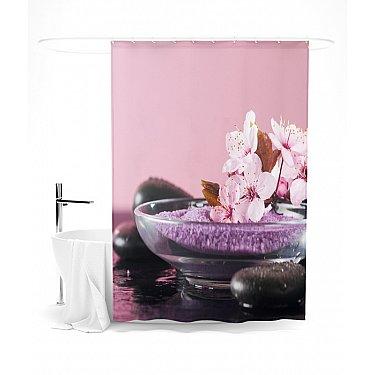 """Штора для ванной """"В розовых мечтах"""", 145*180 см"""