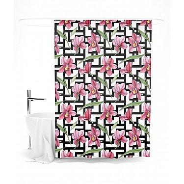 """Штора для ванной """"Цветочная тайна"""", 145*180 см"""