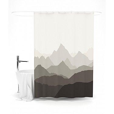 """Штора для ванной """"Абстрактные горы"""", 145*180 см"""