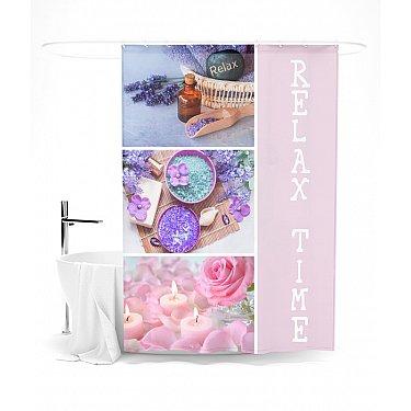 """Штора для ванной """"Время релакса"""", 145*180 см"""