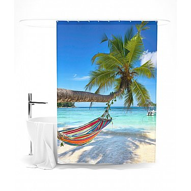 """Штора для ванной """"Незабываемый отдых"""", 145*180 см"""