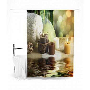 """Штора для ванной """"Свечи над водой"""", 145*180 см"""
